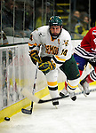 6 November 2009: University of Vermont Catamount forward Brian Roloff, a Senior from West Seneca, NY, in second period action against the University of Massachusetts Lowell River Hawks at Gutterson Fieldhouse in Burlington, Vermont. The Hockey East rivals battled to a 3-3 tie. Mandatory Credit: Ed Wolfstein Photo