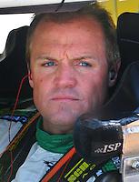 May 2, 2008; Richmond, VA, USA; NASCAR Nationwide Series driver Kenny Wallace during the Lipton Tea 250 at the Richmond International Raceway. Mandatory Credit: Mark J. Rebilas-