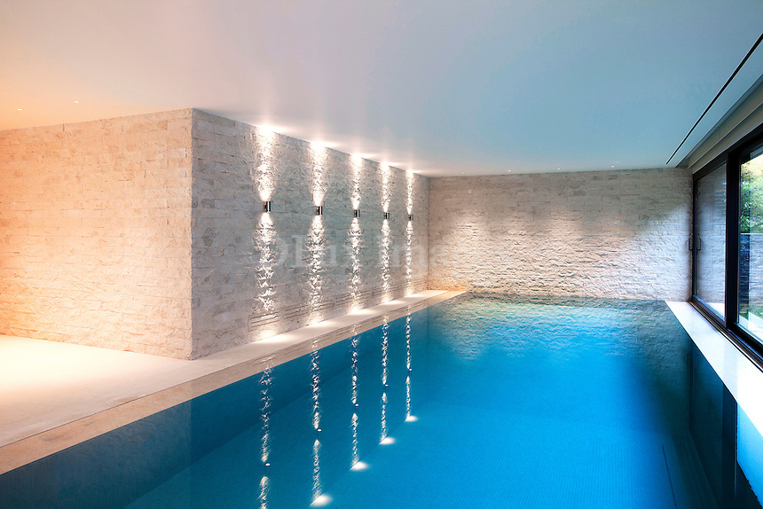 Interior luxury pool area