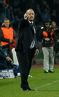 Rafael Benitez    in action during the Italian Serie A soccer match between SSC Napoli and Juventus FC   at San Paolo stadium in Naples, March 30 , 2014