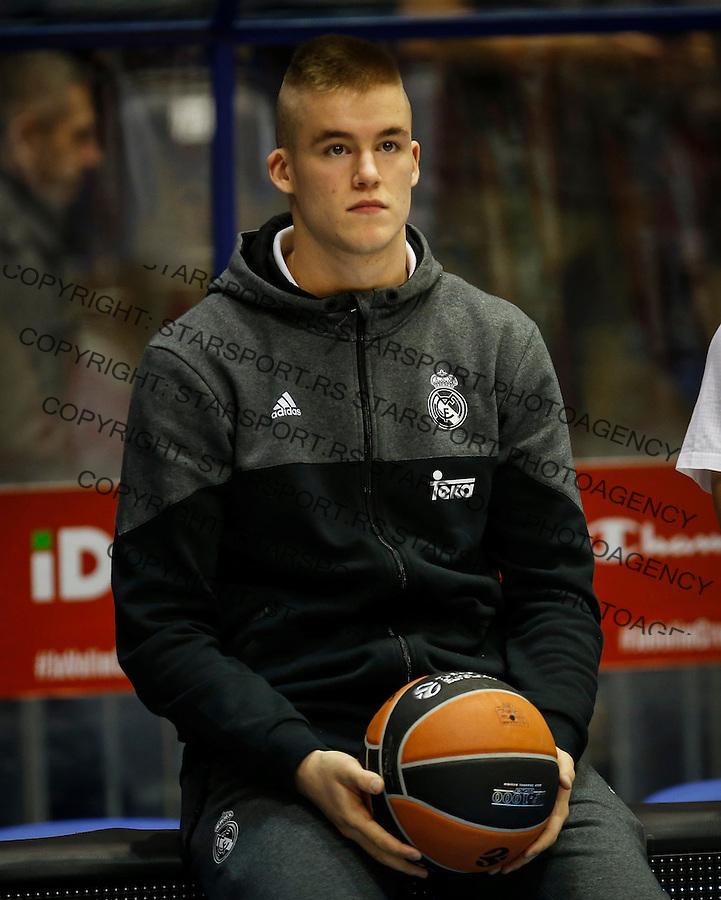 Kosarka Euroleague season 2016-2017<br /> Euroleague <br /> Crvena Zvezda v Real Madrid<br /> Dino Radoncic<br /> Beograd, 22.12.2016.<br /> foto: Srdjan Stevanovic/Starsportphoto &copy;