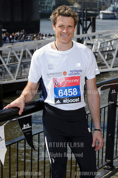 James Cracknell at the photocall for celebs running the 2014 London Marathon, London. 09/04/2014 Picture by: Steve Vas / Featureflash