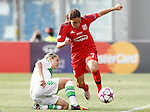 VfL Wolfsburg's Anna Blasse (l) and Olympique Lyonnais's Amel Majri during UEFA Women's Champions League 2015/2016 Final match.May 26,2016. (ALTERPHOTOS/Acero)