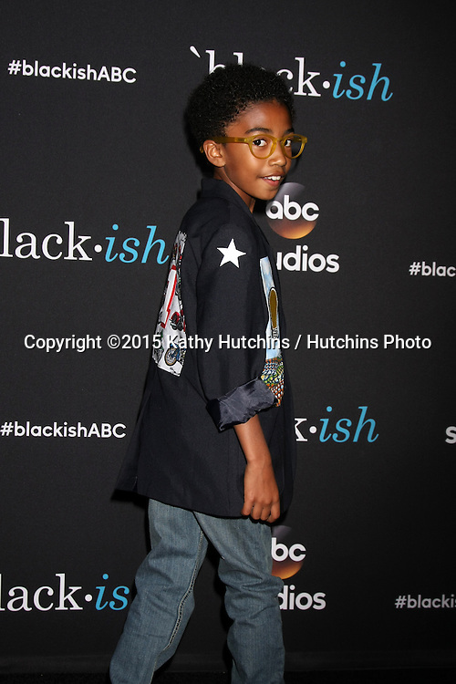 "LOS ANGELES - FEB 17:  Miles Brown at the ""Black-ish"" ATAS event at the Silver Screen Theater at Pacific Design Center on April 17, 2015 in Los Angeles, CA"