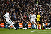 6th December 2017, Santiago Bernabeu, Madrid, Spain; UEFA Champions League football, Real Madrid versus Dortmund; Dan-Axel Zagadou Borussia Dortmund tracks Raphael Varane (5) Real Madrid
