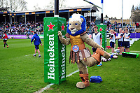 Bath Rugby mascot Maximus in action during the pre-match warm-up. European Rugby Challenge Cup Quarter Final, between Bath Rugby and CA Brive on April 1, 2017 at the Recreation Ground in Bath, England. Photo by: Patrick Khachfe / Onside Images