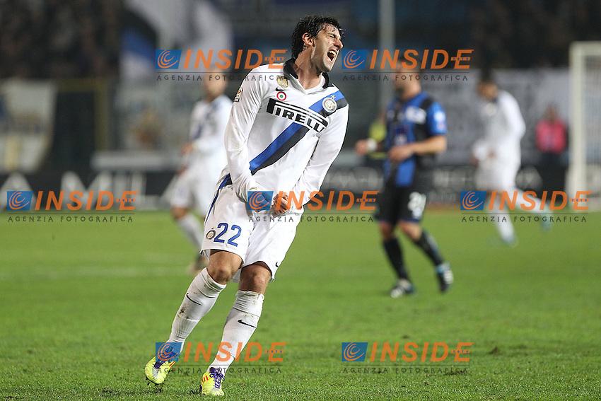"""Diego Milito Inter.Bergamo 26/10/2011 Stadio """"Atleti Azzuri d'Italia"""".Football Calcio Serie A 2011-12.Atalanta vs Inter.Foto Insidefoto Paolo Nucci"""