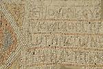 Tel Aviv-Yafo, a segment of a mosaic floor from a 6th century Samaritan Synagogue found near Tel Qasile, on display at the Eretz Israel Museum
