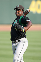 Dayton Dragons pitcher Junior Martinez (34) during a game vs. the Great Lakes Loons at Dow Diamond in Midland, Michigan August 19, 2010.   Great Lakes defeated Dayton 1-0.  Photo By Mike Janes/Four Seam Images