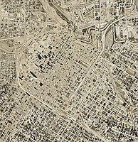 historical aerial photograph Houston, Texas, 1966
