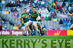 Eddie Horan Kerry in action against  Cavan in the All Ireland Minor Semi Final in Croke Park on Sunday.