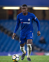Marc Guehi of Chelsea U18 during the FA Youth Cup FINAL 1st leg match between Chelsea U18 and Arsenal U18 at Stamford Bridge, London, England on 27 April 2018. Photo by Andy Rowland.