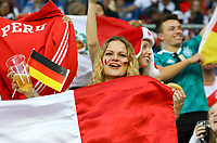 Fans aus Deustchland und Peru feiern friedlich zusammen - 09.09.2018: Deutschland vs. Peru, Wirsol Arena Sinsheim, Freundschaftsspiel DISCLAIMER: DFB regulations prohibit any use of photographs as image sequences and/or quasi-video.