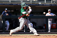 CARY, NC - FEBRUARY 23: Tyler Sanfilippo #8 of Wagner College swings at the ball during a game between Wagner and Penn State at Coleman Field at USA Baseball National Training Complex on February 23, 2020 in Cary, North Carolina.