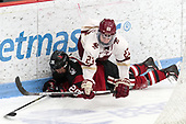 Heather Mottau (NU - 26), Andie Anastos (BC - 23) -  The Boston College Eagles defeated the Northeastern University Huskies 2-1 in overtime to win the 2017 Hockey East championship on Sunday, March 5, 2017, at Walter Brown Arena in Boston, Massachusetts.