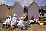 Mount Zion Spiritual Baptist church. Church outing to the seaside. Coach trip to Felixstowe  Suffolk  UK from A STORM IS PASSING OVER a Look at Black Churches in Britain. Published by Thames and Hudson isbn 0 500 27826 1