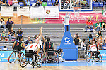 November 18 2011 - Guadalajara, Mexico:   Adam Lancia of Team Canada takes a shot in the CODE Alcalde Sports Complex at the 2011 Parapan American Games in Guadalajara, Mexico.  Photos: Matthew Murnaghan/Canadian Paralympic Committee