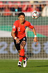 Jung Wooyoung of South Korea in action during the AFC Asian Cup UAE 2019 Round of 16 match between South Korea (KOR) and Bahrain (BHR) at Rashid Stadium on 22 January 2019 in Dubai, United Arab Emirates. Photo by Marcio Rodrigo Machado / Power Sport Images