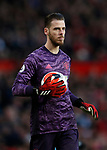 David De Gea of Manchester United during the Premier League match at Old Trafford, Manchester. Picture date: 8th March 2020. Picture credit should read: Darren Staples/Sportimage
