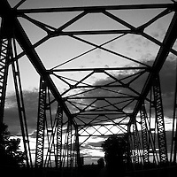 Truss Bridge at Dusk