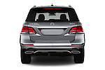 Straight rear view of 2016 Mercedes Benz GLE-Class GLE300d 5 Door SUV Rear View  stock images