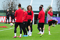 Ethan Ampadu of Wales during the Wales Training Session at The Vale Resort in Cardiff, Wales, UK. Saturday 12 October 2019