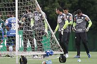 SAO PAULO, SP, 22 FEVEREIRO 2013 - TREINO PALMEIRAS-  Jogadores do palmeiras durante treino na Academia de Futebol, na tarde desta sexta-feira(22), zona oeste da capital - A equipe se prepara para o duelo contra o União Barbarense, próximo domingo(24)  (FOTO: LOLA OLIVEIRA/ BRAZIL PHOTO PRESS).