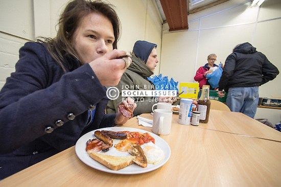 Breakfast at a drop in centre.