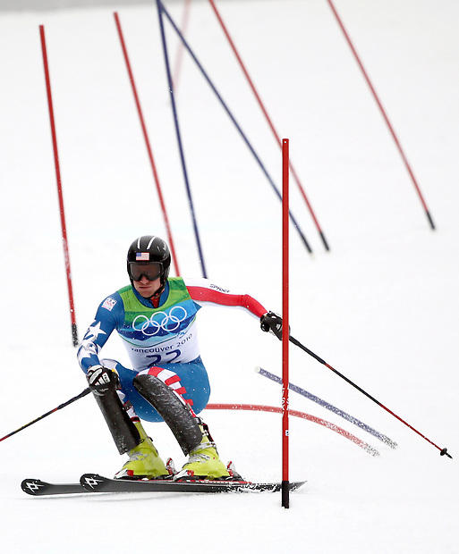 USA's Jimmy Cochran exits a tight series of gates in the men's slalom at the XXI Olympic Winter Games Saturday, February 27, 2010 in Whistler, British Columbia.