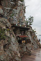 Kagawa is peppered with temples and shrines. The Takei Kannon-in Temple stands on the low cliffs near Aji, Takamatsu.