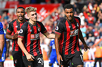 Joshua King of AFC Bournemouth right celebrates scoring with David Brooks of AFC Bournemouth during AFC Bournemouth vs Leicester City, Premier League Football at the Vitality Stadium on 15th September 2018