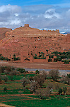 Village d'Aït Benhaddou près de Ourzazate. Grand sud marocain. Maroc