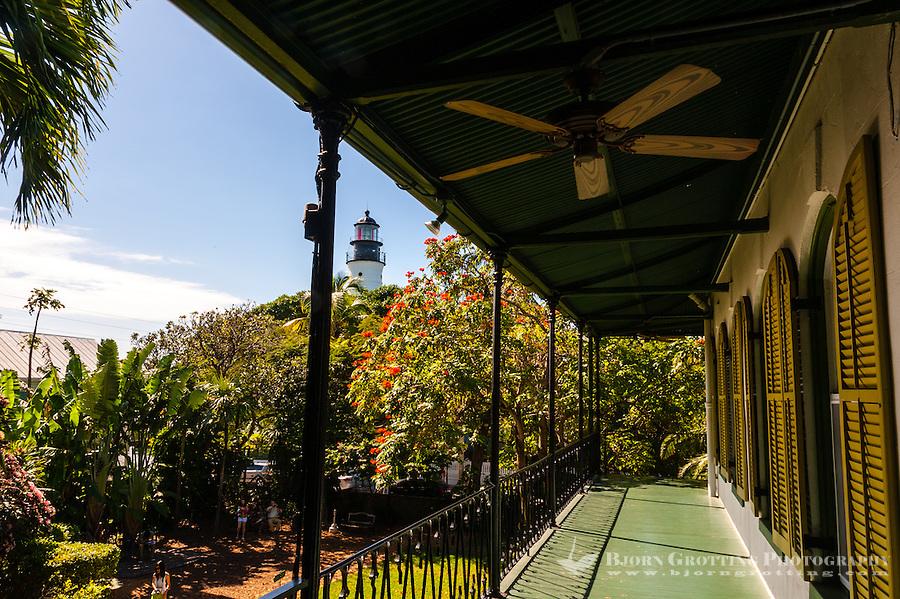 US, Florida, Key West. Ernest Hemingway Home.