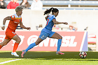 Bridgeview, IL - Saturday May 06, 2017: Janine Van Wyk, Christen Press during a regular season National Women's Soccer League (NWSL) match between the Chicago Red Stars and the Houston Dash at Toyota Park.
