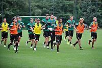 MARIENHOF - Voetbal, Trainingskamp FC Groningen , seizoen 2017-2018, 13-07-2017, afsluiting training uitlopen