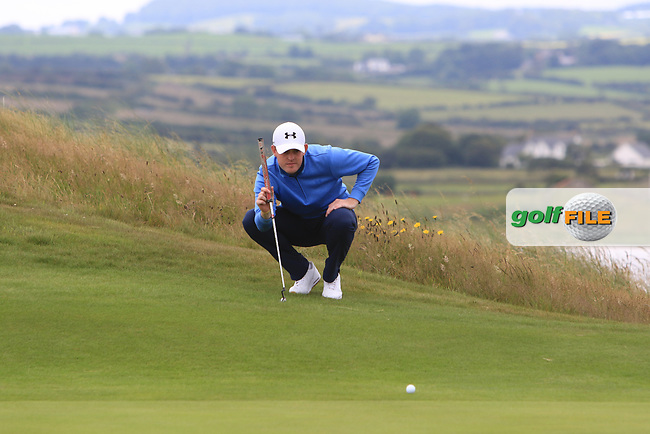 Matthew McLean (Malone) on the 17th during Round 2 of the North of Ireland Amateur Open Championship 2019 at Portstewart Golf Club, Portstewart, Co. Antrim on Tuesday 9th July 2019.<br /> Picture:  Thos Caffrey / Golffile<br /> <br /> All photos usage must carry mandatory copyright credit (© Golffile   Thos Caffrey)