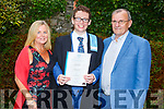 Eoin O'Sullivan with his parents Lorna and Adrian Owen who received his Certificates in Skills for Life- St John of Gods Services at the Graduation Ceremony from the I T Tralee in the Brandon Hotel on Friday.