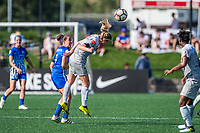 Boston, MA - Saturday June 24, 2017: Amanda DaCosta and McCall Zerboni during a regular season National Women's Soccer League (NWSL) match between the Boston Breakers and the North Carolina Courage at Jordan Field.