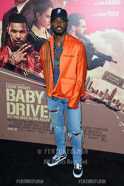 Luke James at the Los Angeles premiere for &quot;Baby Driver&quot; at the Ace Hotel Downtown. <br /> Los Angeles, USA 14 June  2017<br /> Picture: Paul Smith/Featureflash/SilverHub 0208 004 5359 sales@silverhubmedia.com