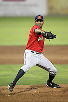 State College Spikes relief pitcher Rinku Singh #10 during a game against the Batavia Muckdogs at Dwyer Stadium on July 8, 2011 in Batavia, New York.  Batavia defeated State College 4-3.  (Mike Janes/Four Seam Images)