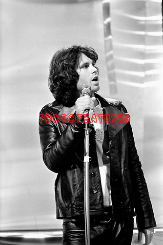 The Doors 1968 Jim Morrison on Top Of The pops..© Chris Walter..