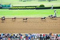 Lexington KY - October 6  Horses race in the 6th race on Keeneland's opening day. October 6, 2017