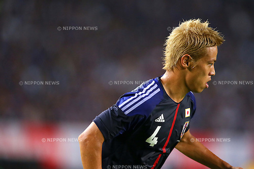 Keisuke Honda (JPN), AUGUST 14, 2013 - Football / Soccer : <br /> KIRIN Challenge Cup 2013 match <br /> between Japan 2-4 Uruguay <br /> at Miyagi Stadium, Miyagi, Japan.<br />  (Photo by AFLO SPORT)