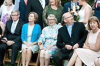 Grandma flashes her legs at the wedding for Josh & Lauren Carlton.