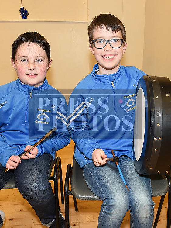 Donnchad Ivory and Darragh Campbell at the Comhaltas Céilí in Ballsgrove Community Centre. Photo:Colin Bell/pressphotos.ie