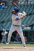 Midland RockHounds Luis Barrera (22) bats during a Texas League game against the Frisco RoughRiders on May 21, 2019 at Dr Pepper Ballpark in Frisco, Texas.  (Mike Augustin/Four Seam Images)
