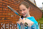 WHAT A THROW: Twelve year old Sarah O'Connor from Castleisland won a bronze All-Ireland medal in Tullamore last week for her javelin throw in the U-13 category..