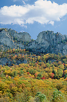 Seneca Rocks,  Spruce Knob-Seneca Rocks <br />   National Recreation Area<br /> Monongahela National Forest<br /> Allegheny Mountains,  West Virginia