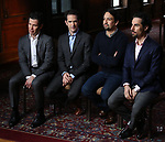 Thomas Kail, Andy Blankenbuehler, Lin-Manuel Miranda and Alex Lacamoire from the 'Hamilton' creative team during a CBS Morning News interview taping with John Dickerson at The Library of Congress on December 2, 2018 in Washington, D.C.