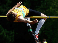 Photo: Richard Lane/Richard Lane Photography..Aviva World Trials & UK Championships athletics. 11/07/2009. Sam Bailey in the men's high jump.